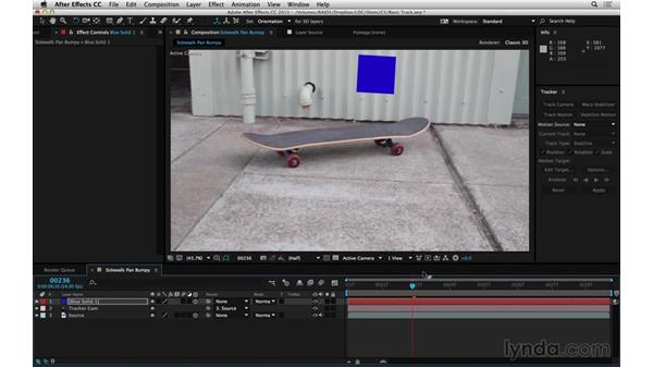 Point stabilize to put multiple layers in motion: After Effects Compositing 06: Tracking and Stabilization