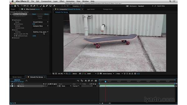 Adjust Warp Stabilizer VFX for effects work: After Effects Compositing 06: Tracking and Stabilization