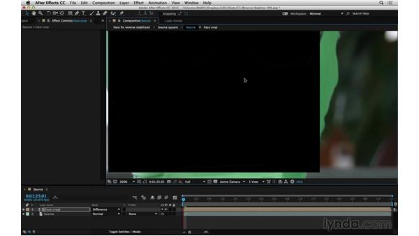 Reverse stabilize with Warp Stabilizer VFX: After Effects Compositing 06: Tracking and Stabilization