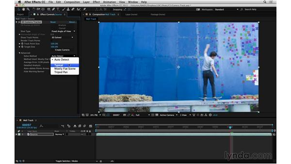 Solve and adjust with Camera Tracker: After Effects Compositing 06: Tracking and Stabilization
