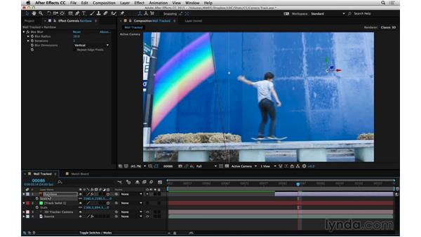 Apply a 3D track: After Effects Compositing 06: Tracking and Stabilization