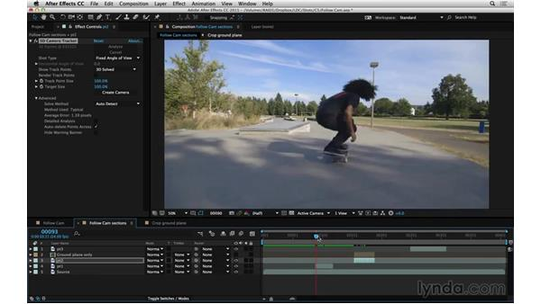 Evaluate Camera Tracker for your shot: After Effects Compositing 06: Tracking and Stabilization