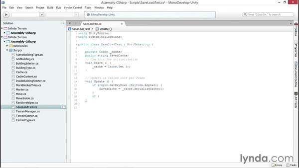 Testing the serialization: Unity 5 2D: Generate Procedural Terrain