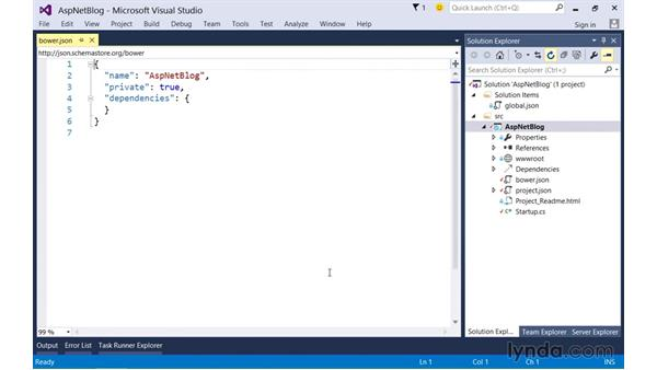 Managing client-side artifacts with Bower: Up and Running with ASP.NET 5