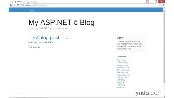 Using Entity Framework to read from a database: Up and Running with ASP.NET 5
