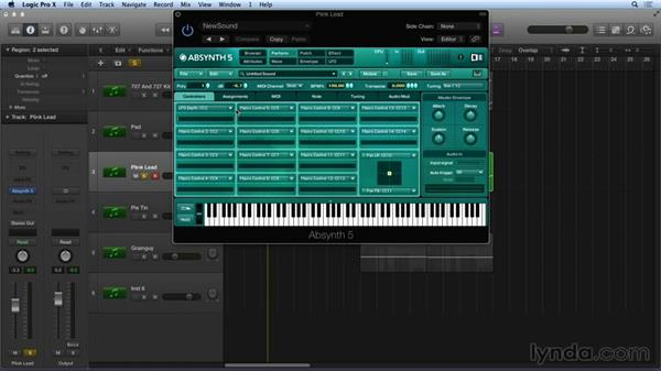 Modulation and macro routing: Synthesis and Sampling with ABSYNTH
