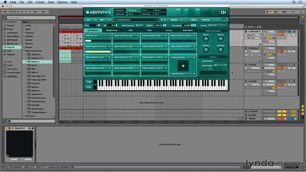 Automation in Ableton Live: Synthesis and Sampling with ABSYNTH