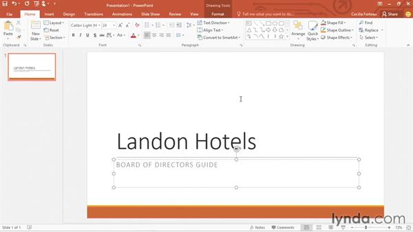 Creating a presentation from a template or theme: Office 365: PowerPoint Essential Training