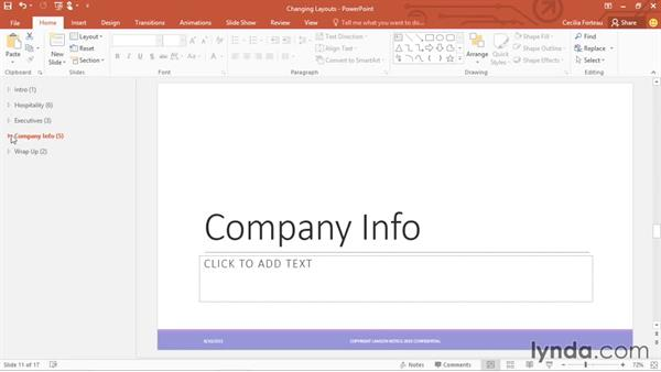 Rearranging slides: Office 365: PowerPoint Essential Training