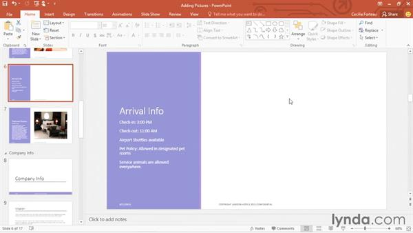 Adding pictures and clip art: Office 365: PowerPoint Essential Training