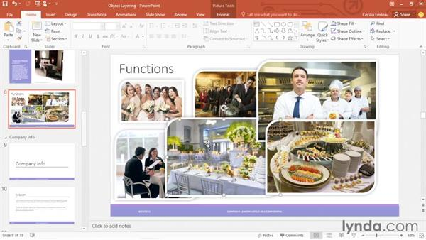 Understanding object layering: Office 365: PowerPoint Essential Training