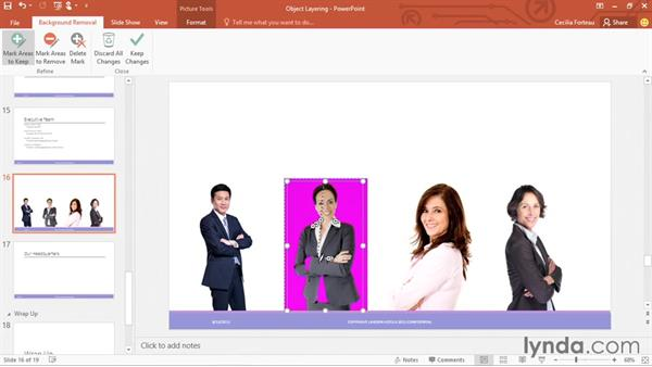 Removing the background from pictures: Office 365: PowerPoint Essential Training