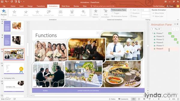 Adding animation to objects and text: Office 365: PowerPoint Essential Training