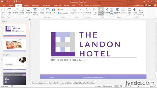 Editing and printing handout masters: Office 365: PowerPoint Essential Training