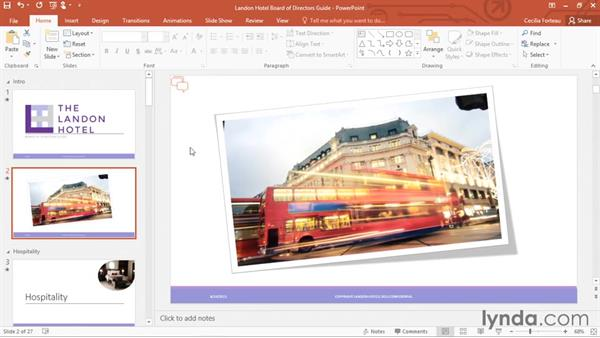 Exporting the presentation as a PDF or JPEG: Office 365: PowerPoint Essential Training