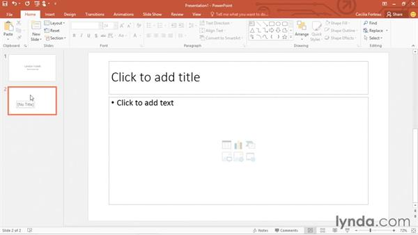 Creating a presentation from scratch: PowerPoint 2016 Essential Training