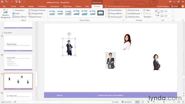 Aligning objects using guides: PowerPoint 2016 Essential Training