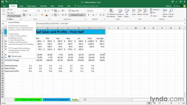 Using the menu system: Excel 2016 Essential Training