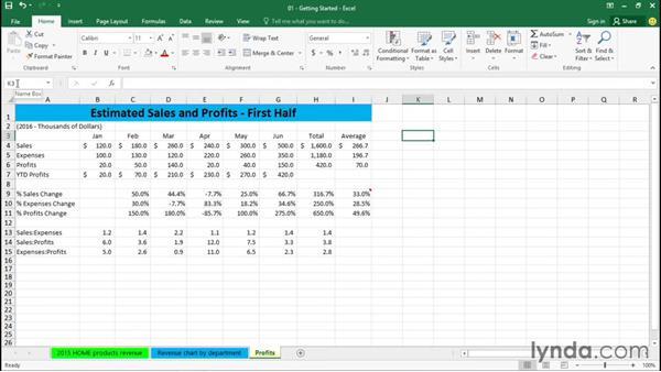 Understanding workbooks and worksheets: Excel 2016 Essential Training