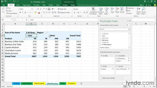 Grouping by other factors: Excel 2016 Essential Training
