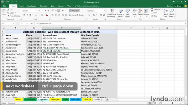 Using navigation tools: Office 365: Excel Essential Training