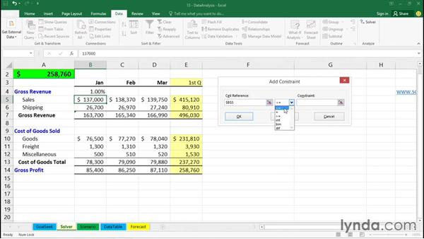 Using Solver: Office 365: Excel Essential Training