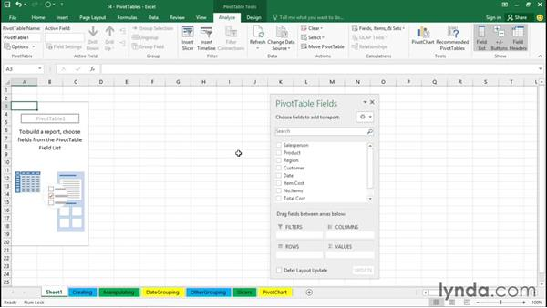 Creating PivotTables: Office 365: Excel Essential Training