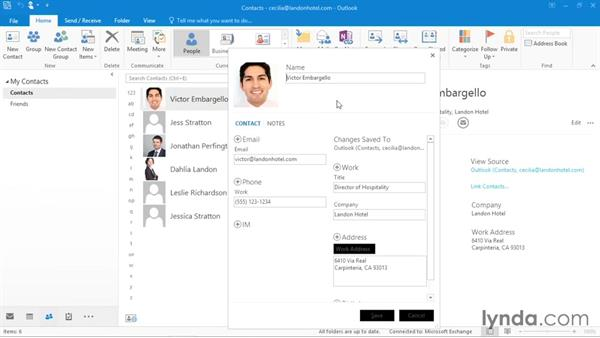 Navigating the People hub: Office 365: Outlook Essential Training