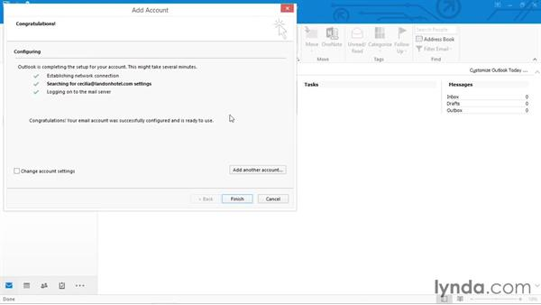 Adding an Exchange or Office 365 email account: Outlook 2016 Essential Training