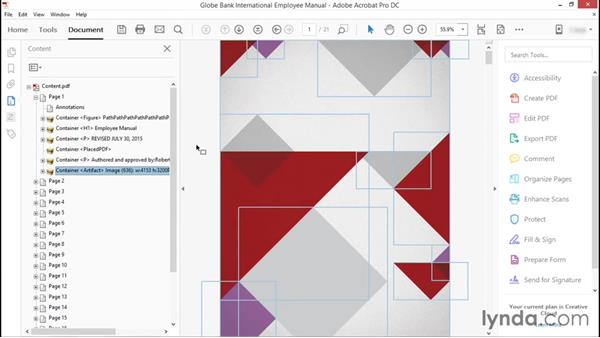 Advanced techniques using the Content pane: Advanced Accessible PDFs