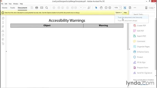 Running the accessibility checker: Advanced Accessible PDFs