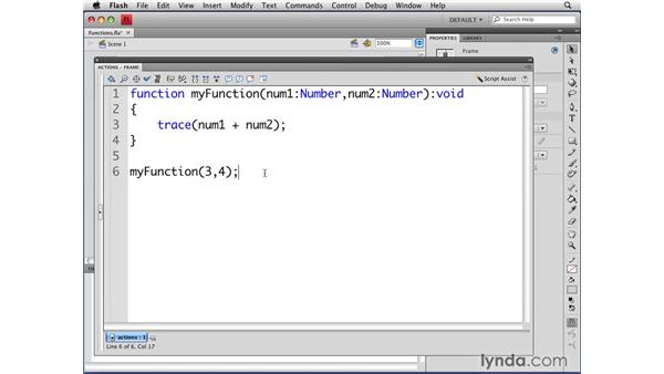 Using and creating functions: Flash CS4 Professional: Object-Oriented Programming