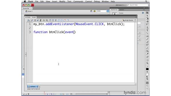 Responding to events: Flash CS4 Professional: Object-Oriented Programming