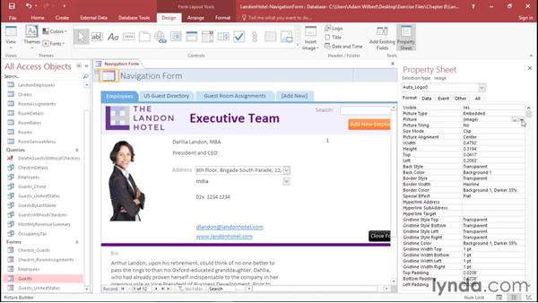 Creating a navigation form: Office 365: Access Essential Training