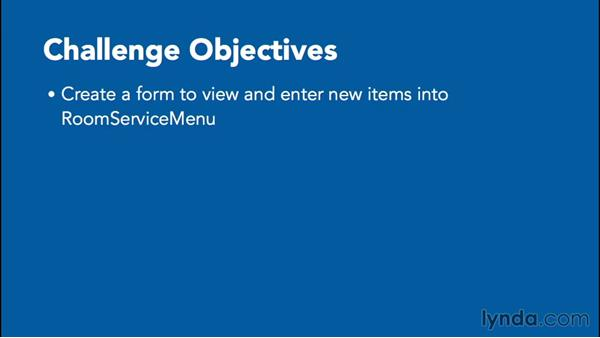 Challenge: Creating forms: Office 365: Access Essential Training