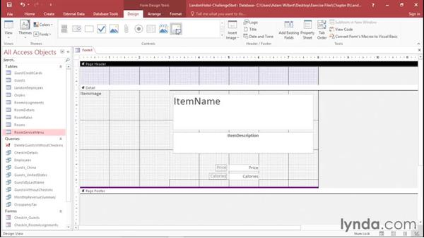 Solution: Creating forms: Office 365: Access Essential Training