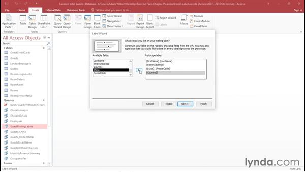 Creating labels: Office 365: Access Essential Training