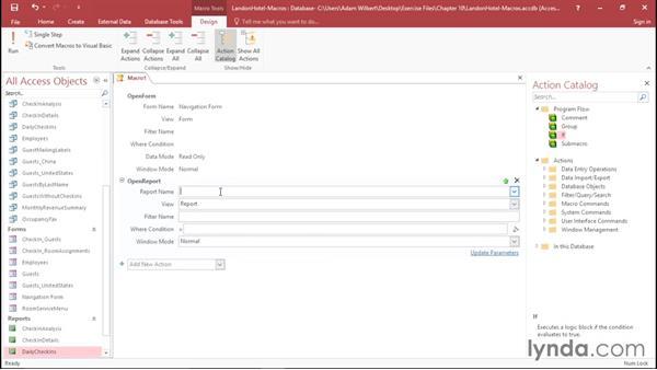 Creating macros: Office 365: Access Essential Training
