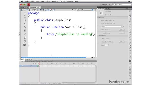 Creating classes: Flash CS4 Professional: Object-Oriented Programming