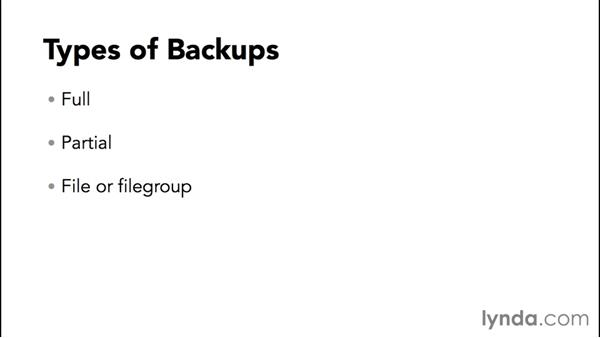 Developing a backup plan: Installing and Administering Microsoft SQL Server 2014