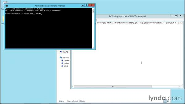 Working with the bcp utility: Installing and Administering Microsoft SQL Server 2014