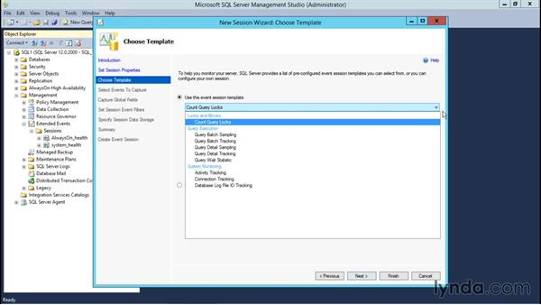 View the Extended Events Wizard: Installing and Administering Microsoft SQL Server 2014