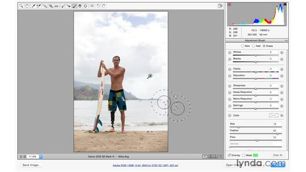 Solution: Improving a portrait: Exploring Adobe Camera Raw: Making Selective Adjustments