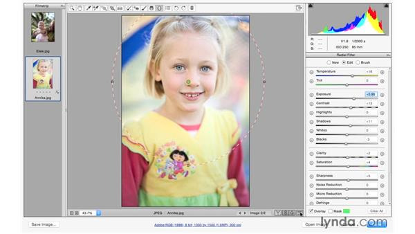 Adding light to portraits: Exploring Adobe Camera Raw: Making Selective Adjustments