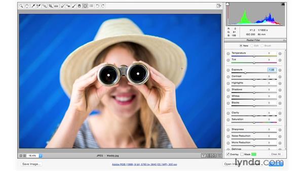 Creating a Vignette effect: Exploring Adobe Camera Raw: Making Selective Adjustments