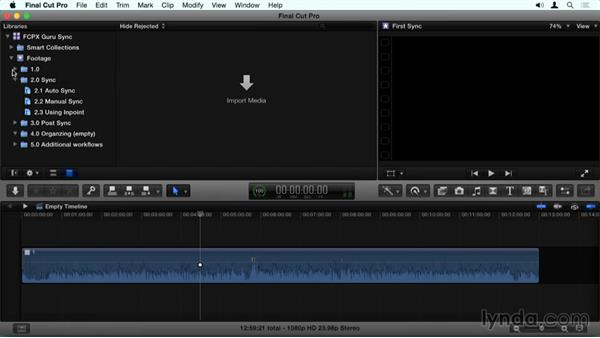 Using the exercise files: Final Cut Pro X Guru: Sync Sound Workflow