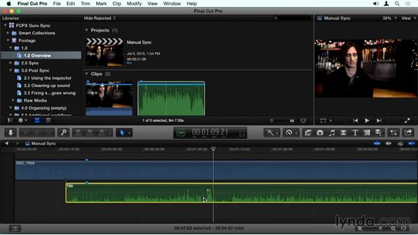 Overview of the Final Cut Pro X process: Final Cut Pro X Guru: Sync Sound Workflow