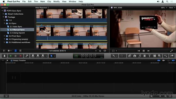 Syncing clips based on markers: Final Cut Pro X Guru: Sync Sound Workflow