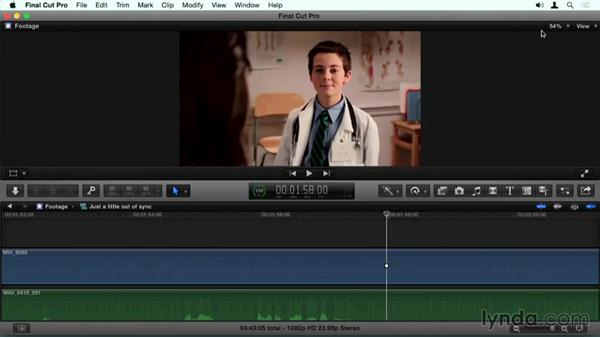 Fixing syncing in compound clips when it goes wrong: Final Cut Pro X Guru: Sync Sound Workflow