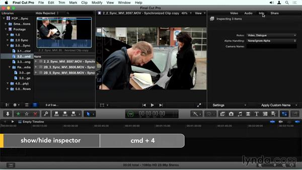 Adding metadata in the Inspector: Final Cut Pro X Guru: Sync Sound Workflow